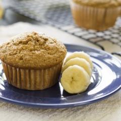 Muffins fit de banana com chia e aveia