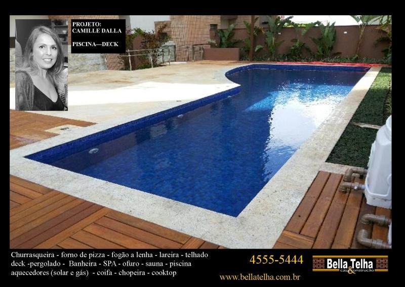 Foto piscina com deck piscina projeto ilumina o para for Iluminacao na piscina e perigoso