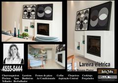 Lareiras, lareira eletrica, lareira sem fumaça, lareira ecologica, lareira a gas é na bella telha www.bellatelha.com.br 11-4555-5444
