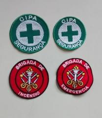 Patch brigada de incêndio para aplicar em boné, camiseta ou colete para brigadistas.