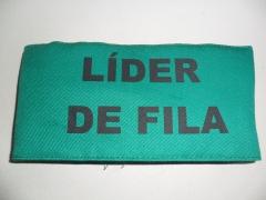 Braçadeira de identificação estampada em silk screen modelo líder de fila