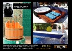 Ofuro, spa e piscina são itens convidativos ao lazer e são essenciais para aqueles que desejam desfrutar de seu sucesso. na bella telha vc encontra a solução para sua area de lazer pois trabalhamos com deck, pergolado, sauna, churrasqueira e muito mais...fale conosco 11-4555-5444
