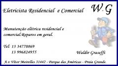 W.g eletricista - manuten��o el�tricas residencial e comercial - reparos em geral- praia grande sp - foto 1