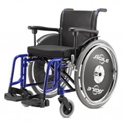 Cadeira em alumínio duplo x. capacidade 120 kg