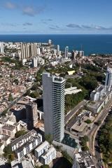 Vista aérea da localização da clínica vitraux