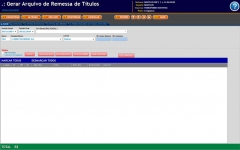 Emissão de boletos / remessa