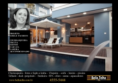 Churrasqueira, piscina, cascata, deck - bella telha 11-4555-5444
