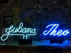Abajur neon arte