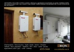 Aquecedor, sistema de aquecimento, aquecedor a gas, aquecedor solar, agua quente na hora, aquecedor solar, na bella telha www.bellatelha.com.br 11-4555-5444