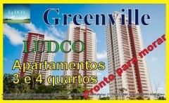 GREENVILLE Ludco, Apartamentos e Coberturas  3 e 4 quartos, Patamares. São apartamentos de 3 quartos mais Gabinete ou 4 Quartos com total infraestrutura. Tipologias com Áreas Privativas de: - Apartamentos com : 3 quartos + Gabinete (134,90m²) / 4 Suítes (180,67m²) - Coberturas com 270,30 m² e 374,71 m² Nº PAVIMENTOS: 29 pavimentos e Coberturas Nº UNIDADES POR PAVIMENTO: 4 aptos por andar Número de vagas por unidade: 2 - 134,90m² / 3 - 180,67m² / 4 - penthouse maior Nº TORRES: 3 torres ÁREA TERRENO:  22.296,34m² Coberturas em formato Penthouse..Venha conferir e agenda sua visita agora e aproveite condições com valores promocionais.   Mais detalhes entre em contato com:  Claudio Borges.  +55(71)3494-7843 +55(71)99911-1102 WhatsApp