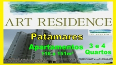 Art Residence, Apartamentos 3 e 4 quartos, Patamares, Salvador. Conheça o Art Residence, Apartamentos de 116 a 151m² localizado em Patamares, Salvador. com 3 a 4 dormitórios (1 a 4 suítes) e 2 a 3 vagas. Condições: A Vista, Aceita Financiamento. Maiores detalhes entre em contato com:  Claudio Borges. +55(71)3494-7843 +55(71)99911-1102 WhatsApp