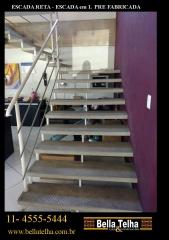 Escada pre fabricada, escada reta, escada em l, escada caracol, direto da fabrica pelo melhor preço