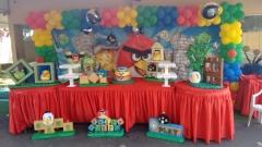 Tema angry birds #mariafumacafestas - sua festa de aniversário infantil sem riscos de