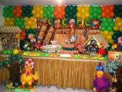 Turma do cocoricó - na #mariafumacafestas você encontra o melhor para fazer a decoração do seu evento infantil.