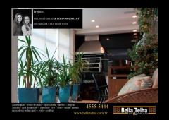 Churrasqueira, churrasqueira com coifa em inox, churrasqueira high tech, churrasqueira moderna, churrasqueira de alvenaria, churrasqueira com forno de pizza e fogão a lenha, varanda com deck, deck para varanda, deck de parede, parede revestida de madeira. na bella telha, 11-4555-5444 www.bellatelha.com.br, vc encontra também pergolado, telhado, cobertura, churrasqueira, churrasqueira de apartamento, churrasqueira com coifa, churrasqueira a gas, churrasqueira high tech, churrasqueira eletrica, grelha de churrasqueira, motor para churrasqueira, gril, chopeira, forno de pizza. fogão a lenha, lareira ecologica, lareira a gas, lareira com cristais, painel borbulhador, banheira de hidromassagem, ofuro, sauna seca, sauna a vapor e muito mais.. fale conosco. este projeto é das arquitetas melissa ferraz e lizandra maluf