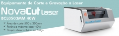 Equpamento de corte e gravação a laser