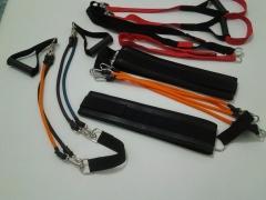 Kit Personal com 3 Acessórios = Cinto Tração Duplo+TRX+ Extensor 4 Elásticos    R$ 260,00
