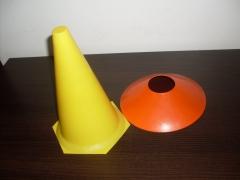 Cone e Prato de PVC para demarcação de área de treinamento  R$ 7,50 conjunto