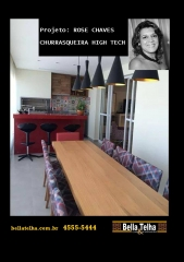 Churrasqueira, churrasqueira com coifa, churrasqueira high tech. projeto rose chaves