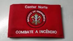 Bra�adeira brigada de emerg�ncia personalizada, com fechamento em velcro ou el�stico
