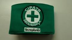 Bra�adeira cipatr seguran�a bordada, personalizada com logomarca de sua empresa