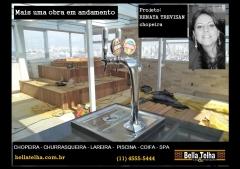 Chopeira, chopeiras, projetos com choppeira, projeto com chopeira, churrasqueira, forno de pizza, varanda gourmet e muito mais vc encontra na bella telha www.bellatelha.com.br, 11-4555-5444.projeto da arquiteta renata trevisan