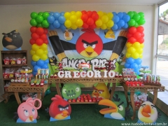 Decoração rústica angry birds