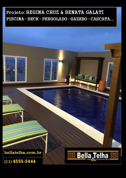 Foto p scina piscina com deck piscina com cascata for Iluminacao na piscina e perigoso