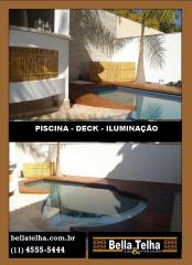 Piscina, deck, aquecimento, iluminação