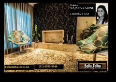 lareira, sala com lareira, n�o  importa o modelo, o que importa � a criatividade e a realiza��o do sonho de ter uma lareira em casa.. Projeto Najara Karine Perassoli