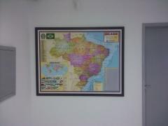 Mapa do brasil - quadro magnético