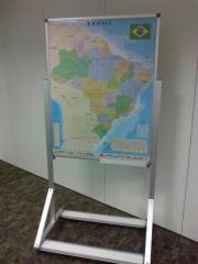 Mapa brasil - cavalete