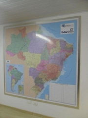 Mapa brasil - quadro magnético