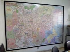 Mapa cidade sp - quadro magnético