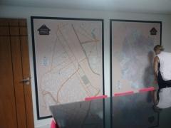 Mapa cidade de santo andré - laminado