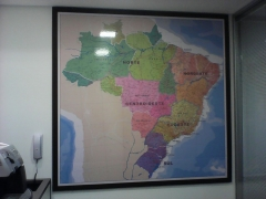 Mapa do brasil - magnético