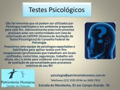 Testes e avaliação psicológicas