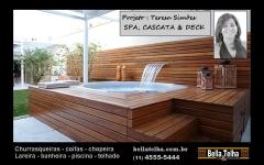Spa, spa com deck, spa com hidromassagem, spas em sp, spa no abc, loja de spa em sp, loja de banheira em sp, loja de spa no abc, deck, churrasqueira. Projeto Teresa Sim�es