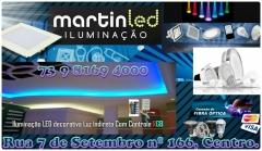Led iluminação a mais nova loja em ilhéus. tel. 73 3231 9399 / 9 8169 4000 preços jamais vistos. enquanto durar o estoque. trabalhamos com todo tipo de iluminação em relação a led, deixando o seu ambiente mais bonito com economia. atenção todos os nossos produtos com dois anos de garantia. venha conferir! aceitamos cartões de credito. martin led iluminação rua: 7 de setembro nº 166, centro. martin led iluminação iluminando a sua vida. agradecemos a preferência. trabalhamos com fibra ótica, fita de led, placa de led, espots, mini led... - http://uniaodemarca.wixsite.com/martinlediluminacao