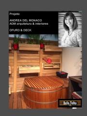 Ofuro, ofuro de madeira, ofuros, ofuro com deck, deck de madeira, churrasqueira, sauna seca, sauna a vapor, cascatas, espelho d agua