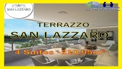 Terrazzo San Lazzaro, Apartamentos 4 suítes, São Lazaro, Federação, Salvador Terrazzo San Lazzaro, um empreendimento de alto luxo, com 4 quartos sendo todos suítes, em 210,95m² de área privativa e uma vista deslumbrante para o mar. O empreendimento será construído em um terreno com 4.333,05m², localizado no bairro de São Lázaro, uma parte tranquila da Federação. São 63 apartamentos de quatro suítes e uma cobertura distribuídos em 32 andares, sendo que cada um deles com 4 vagas de garagem. Venha conferir pessoalmente e marque sua visita agora!!!!! Mais detalhes entre em contato: Claudio Borges   CRECI 22602 BA  (71)3494-7843 (71)99911-1102 WhatsApp