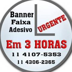 Banner Faixas Urgente 11 4107 5353 Serviço de Entrega São Paulo região