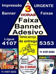 Banner adesivo faixa são paulo 11 4107 5353