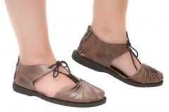 Sandália primavera em couro peregrino