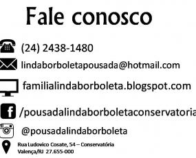 Pousada Linda Borboleta Conservatória- RJ