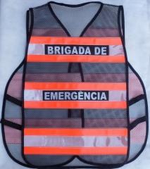 Colete refletivo da brigada de emergência