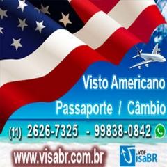 Visto americano / passaporte / câmbio