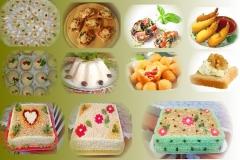 Salgados finos e tradicionais, canapés e tortas salgadas para festas