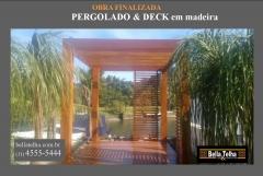 Pergolado de madeira, pergolado, deck, pergolado na praia, pergolado no abc, pergolado em são paulo, pergolado de madeira é na bella telha 11 4555-5444 www.bellatelha.com.br