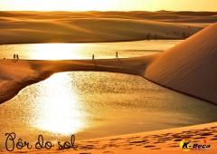 Pôr do sol (lençóis maranhenses)